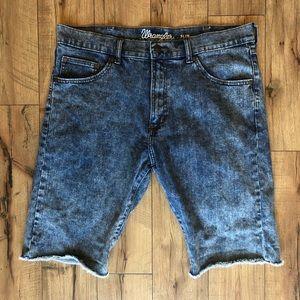 Wrangler Stonewash Denim Cut-off Shorts